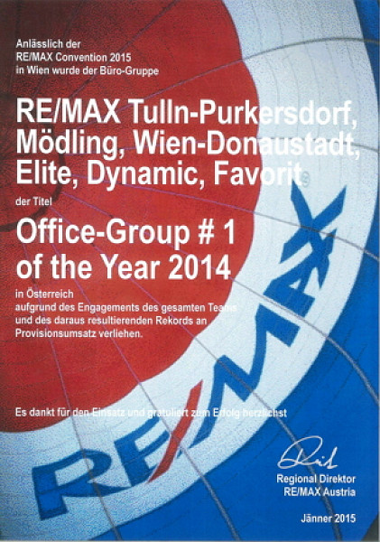 RE/MAX DCI-Gruppe: Office-Group # 1 of the Year 2014